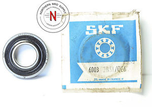 SKF 6003-2RS1/QE6 BEARING, DOUBLE SEAL, 17mm x 35mm x 10mm