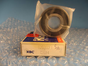 KBC Korean 6203 DD C3, Single Row Radial Ball Bearing (=2 SKF 2RS, NTN VV, 203)