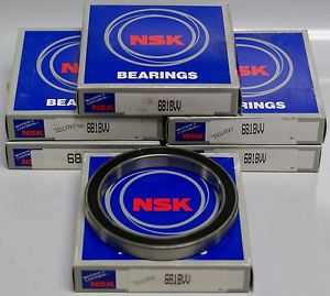 NEW in Box NSK 6818VV Rubber Sealed Deep Groove Ball Bearing 90x115x13