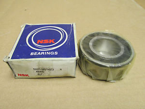 """NIB NSK 5207 2RS BEARING DOUBLE RUBBER SHIELD 52072RS 35mm ID 72mm OD 1 1/16"""" W"""