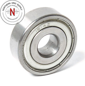 """NSK 1614Z BEARING, DOUBLE SEAL, DEEP GROOVE, .375"""" x 1.125"""" x .375"""""""