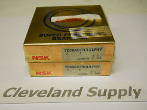 NSK 7009A5TRDULP4Y SUPER PRECISION BEARINGS (MATCHED PAIR) 35 X 62 X 28MM NIB