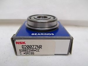 NEW NSK FLANGED ROLLER BEARING 6200ZZNR 6200Z