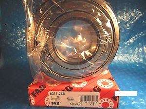 FAG 6311 2ZR, Single Row Radial Bearing(=2 SKF 2Z, NSK,NTN,Timken/Fafnir 311KDD)