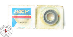 SKF 6002-2RS1 DOUBLE SEAL, DEEP GROOVE BALL BEARING, 15mm x 32mm x 9mm