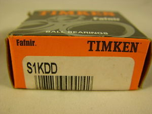 """Timken S1KDD Extra Small Ball Bearing Double Shielded 1/4"""" ID, 3/4"""" OD"""