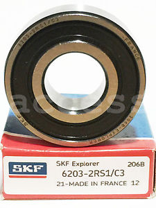 6203-2RS C3 SKF FRANCE NEW IN BOX BEARING 1PC 17X40X12 SHIPS FROM THE U.S.A.
