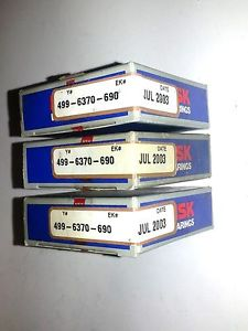 (3) New 1206 C3 011 NSK Self Align Double Row Bearings Made in Japan