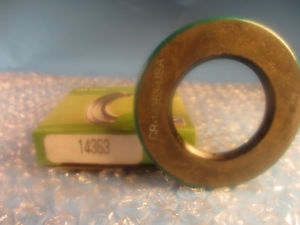 SKF, Chicago Rawhide CR 14363, CR14363, Single Lip With Spring Shaft Seal