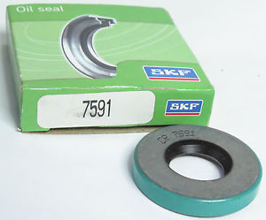 "SKF / CHICAGO RAWHIDE CR 7591 OIL SEAL, .750"" x 1.575"" x .250"""