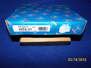 SKF 6026-2Z Bearing, New in Factory Sealed Box!! Free Shipping!!