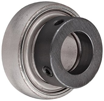 SKF YET-2 Series Ball Bearing Insert, Eccentric Collar, Contact Seals, Chrome Steel