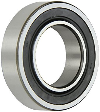 SKF Double Row Self-Aligning Ball Bearing, Optimized Internal Design, Cylindrical Bore, Double Sealed, Reinforced Polyamide Cage, Normal Clearance, Metric