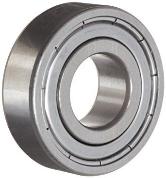 SKF 6202-2Z/GJN Radial Bearing, Single Row, Deep Groove Design, High Temperature Grease, ABEC 1 Precision, Double Shielded, Non-Contact, Normal Clearance, Steel Cage, 15mm Bore, 35mm OD, 11mm Width, 3750lbf Static Load Capacity