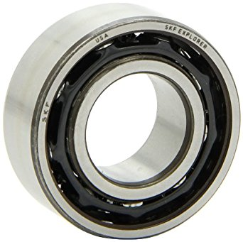 """SKF 3206 A/C3 Light Series Ball Bearing, Double Row, Converging Angle Design, ABEC 1 Precision, 25° Contact Angle, Open, Steel Cage, C3 Clearance, 30mm Bore, 62mm OD, 15/16"""" Width, 4770.0 pounds Static Load Capacity, 6660.00 pounds Dynamic Load Capacity"""