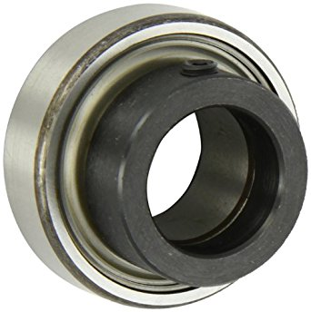 "SKF YET 206-103 CW Ball Bearing Insert, Eccentric Collar, Contact Seals, With Collar, Regreasable, Steel, 1-3/16"" Bore, 62 mm OD , 18 mm Outer Ring Width"