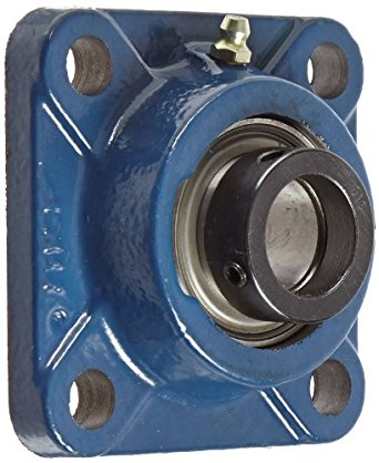 "SKF FY 1. FM Ball Bearing Flange Unit, 4 Bolts, Eccentric Collar, Regreasable, Contact Seal, Cast Iron, Inch, 1"" Bore, 2-3/4"" Bolt Hole Spacing Width, 2430lbf Dynamic Load Capacity"