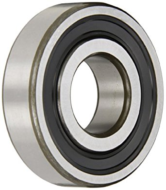 SKF Medium Series Deep Groove Ball Bearing, Deep Groove Design, ABEC 1 Precision, Single Seal, Contact, Steel Cage, C3 Clearance