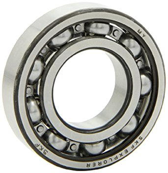 SKF 6207 Light Series Deep Groove Ball Bearing, Deep Groove Design, ABEC 1 Precision, Open, Standard Cage, Normal Clearance, 35mm Bore, 72mm OD, 17mm Width, 3440.0 pounds Static Load Capacity, 5730.00 pounds Dynamic Load Capacity