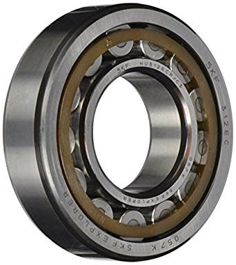 SKF NU 320 ECP/C3 Cylindrical Roller Bearing, Single Row, Removable Inner Ring, Straight Bore, High Capacity, C3 Clearance, Polyamide/Nylon Cage, Metric, 100mm Bore, 215mm OD, 47mm Width