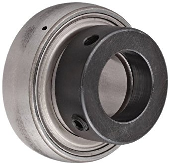 SKF YET-2 Series Ball Bearing Insert, Eccentric Collar, Contact Seals, Regreasable, Chrome Steel