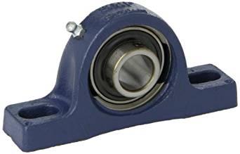 SKF SY 20 TF Pillow Block Ball Bearing, 2 Bolts, Setscrew Locking Collar, Non-Expansion Type, Contact Flinger Seals, Cast Iron, Metric, 20mm Shaft, 33.300mm Base To Center Height, 97mm Bolt Hole Spacing Width
