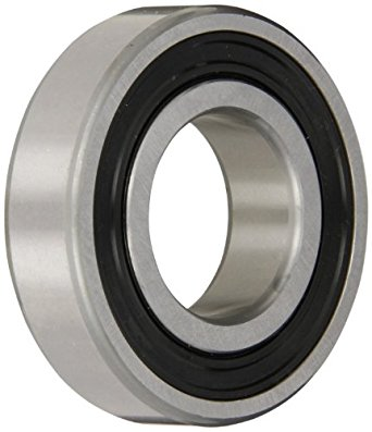 SKF Light Series Deep Groove Ball Bearing, Deep Groove Design, ABEC 1 Precision, Single Seal, Contact, Steel Cage, C3 Clearance