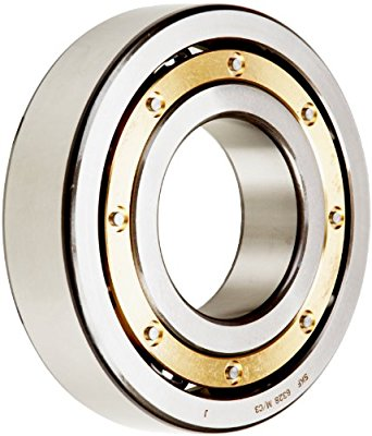 SKF Radial Bearing, Single Row, Deep Groove Design, ABEC 1 Precision, Open, C3 Clearance, Brass Cage