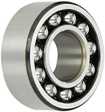 SKF Double Row Self-Aligning Ball Bearing, Optimized Internal Design, Cylindrical Bore, Open, Reinforced Polyamide Cage, Normal Clearance, Metric