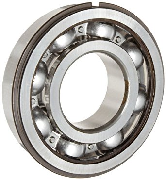 SKF Medium Series Deep Groove Ball Bearing, Deep Groove Design, ABEC 1 Precision, Open, Snap Ring, Steel Cage, C3 Clearance