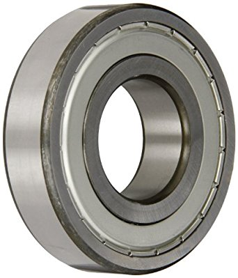 SKF Medium Series Deep Groove Ball Bearing, Deep Groove Design, ABEC 1 Precision, Single Shield, Non-Contact, Steel Cage, C3 Clearance