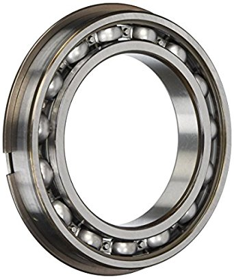 SKF Deep Groove Ball Bearing, Open, Snap Ring, Steel Cage, Normal Clearance