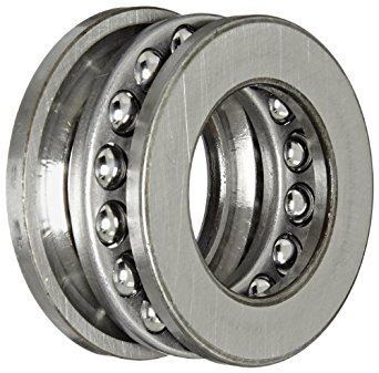 SKF 51105 Single Direction Thrust Bearing, 3 Piece, Grooved Race, 90° Contact Angle, ABEC 1 Precision, Open, Steel Cage, 25mm Bore, 42mm OD, 11mm Width, 6520lbf Static Load Capacity, 3570lbf Dynamic Load Capacity