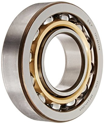SKF 7313 BECBM Medium Series Angular Contact Bearing, ABEC 1 Precision, 40° Contact Angle, Open, Brass Cage, Normal Clearance, 65mm Bore, 140mm OD, 33mm Width, 18000lbf Static Load Capacity, 24300lbf Dynamic Load Capacity