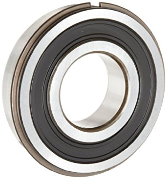 SKF 6300 Series Deep Groove Ball Bearing, Double Sealed, With Snap Ring, Steel, Metric