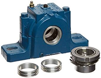 "SKF SAF 1509X1.1/2 Ball Bearing Pillow Block, 2 Bolts, Adapter Mount, Non-Expansion Type, Labyrinth Seals, Cast Iron, Inch, 1-1/2"" Bore, 2-1/4"" Base To Center Height, 6-5/8"" Bolt Hole Spacing Width"
