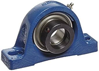 "SKF SYH 1.1/2 FM Pillow Block Ball Bearing, 2 Bolts, Normal-Duty, Eccentric Locking Collar, Contact Seals, Cast Iron, Inch, 1-1/2"" Shaft, 1-15/16"" Base To Center Height, 5-11/32"" Bolt Hole Spacing Width, 6910 pounds Dynamic Load Capacity"