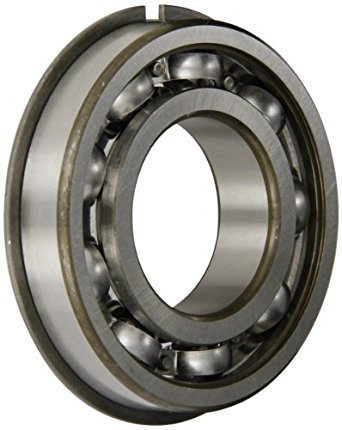 SKF Radial Bearing, Single Row, Deep Groove Design, ABEC 1 Precision, Open, Snap Ring, Normal Clearance, Steel Cage