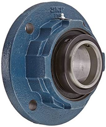 "SKF FYR 2.7/16 Heavy-Duty Spherical Bearing Flange Unit, 4 Bolts, Setscrew Locking, Expansion Type, Regreasable, Contact Seal, Cast Iron, 2-7/16"" Bore, 4.773"" Bolt Hole Spacing Width, 33300lbf Dynamic Load Capacity"