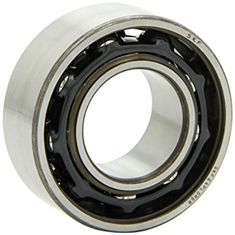 """SKF 3208 A/C3 Light Series Ball Bearing, Double Row, Converging Angle Design, ABEC 1 Precision, 30° Contact Angle, Open, Steel Cage, C3 Clearance, 40mm Bore, 80mm OD, 1-3/16"""" Width, 7640.0 pounds Static Load Capacity, 10100.00 pounds Dynamic Load Capacity"""
