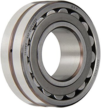 SKF Spherical Radial Bearing, Straight Bore, Lubrication Groove, 3 Hole Outer Ring, Steel Cage, C2 Clearance