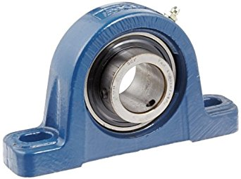 "SKF SYM 1.7/16 TF Pillow Block Ball Bearing, 2 Bolts, Medium-Duty, Setscrew Locking Collar, Contact Flinger Seals, Cast Iron, Inch, 1-7/16"" Shaft, 2-1/8"" Base To Center Height, 5-21/32"" Bolt Hole Spacing Width, 6910 pounds Dynamic Load Capacity"