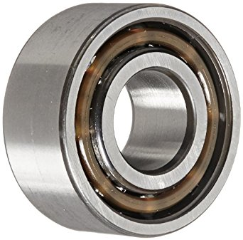 SKF 32 A Series Double Row Angular Contact Ball Bearing, 30° Contact Angle, Open, Reinforced Polyamide Cage, C3 Clearance