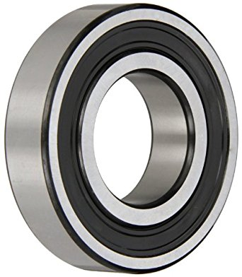 SKF Radial Bearing, Single Row, Deep Groove Design, ABEC 1 Precision, Double Sealed, Contact, C3 Clearance, Steel Cage