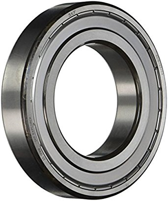 SKF Radial Bearing, Single Row, Deep Groove Design, ABEC 1 Precision, Double Shielded, Non-Contact, C3 Clearance, Steel Cage