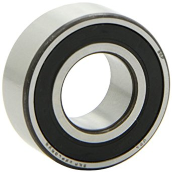 "SKF 3205 A-2RS1/C3 Light Series Ball Bearing, Double Row, Converging Angle Design, ABEC 1 Precision, 25° Contact Angle, Double Sealed, Contact, Steel Cage, C3 Clearance, 25mm Bore, 52mm OD, 13/16"" Width, 3280.0 pounds Static Load Capacity, 4770.00 pounds Dynamic Load Capacity"
